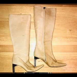 Ralph Lauren Tan Pony Hair Boot